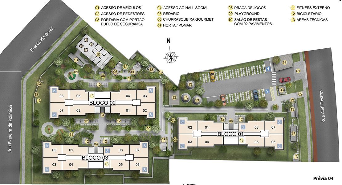 Planta de apartamento em Verona | São Paulo | SP | planta 1 | tenda.com