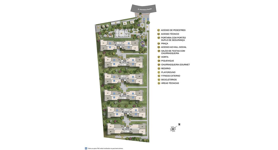 Planta de apartamento em Belo Horto | Salvador | BA | planta 1 | tenda.com