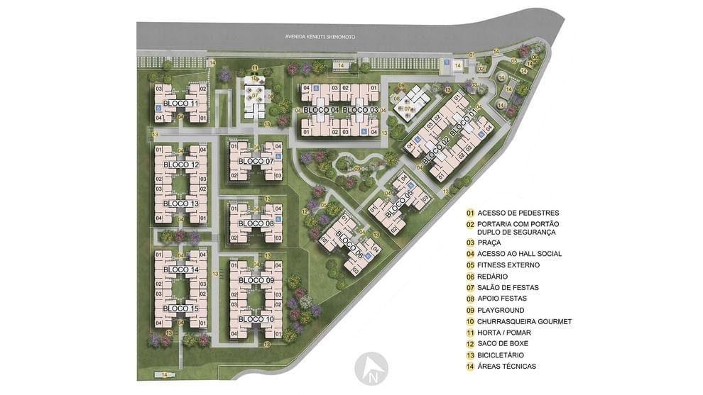 Planta baixa do Residencial Ágata Apartamento Minha Casa Minha Vida | Tenda.com
