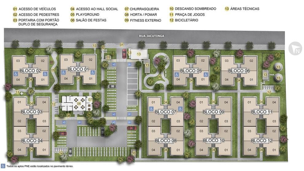 Planta de apartamento em Estação da Luz | Mesquita | RJ | planta 1 | tenda.com
