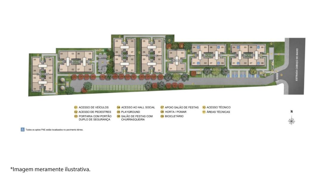 Planta de apartamento em Reserva do Parque II   Rio de Janeiro   RJ   planta 1   tenda.com