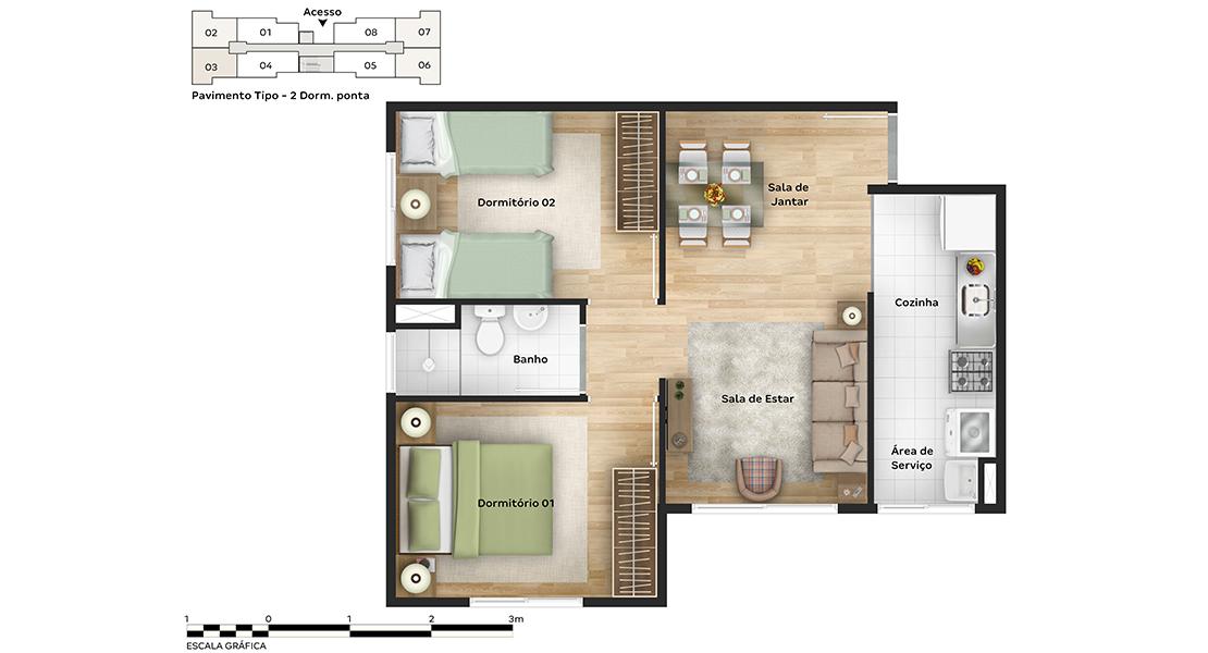 Planta baixa do Safira Apartamento Minha Casa Minha Vida   Tenda.com