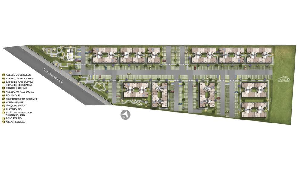 Planta baixa do Residencial Novo Atlântico Condominio Abrolhos Apartamento Minha Casa Minha Vida | Tenda.com
