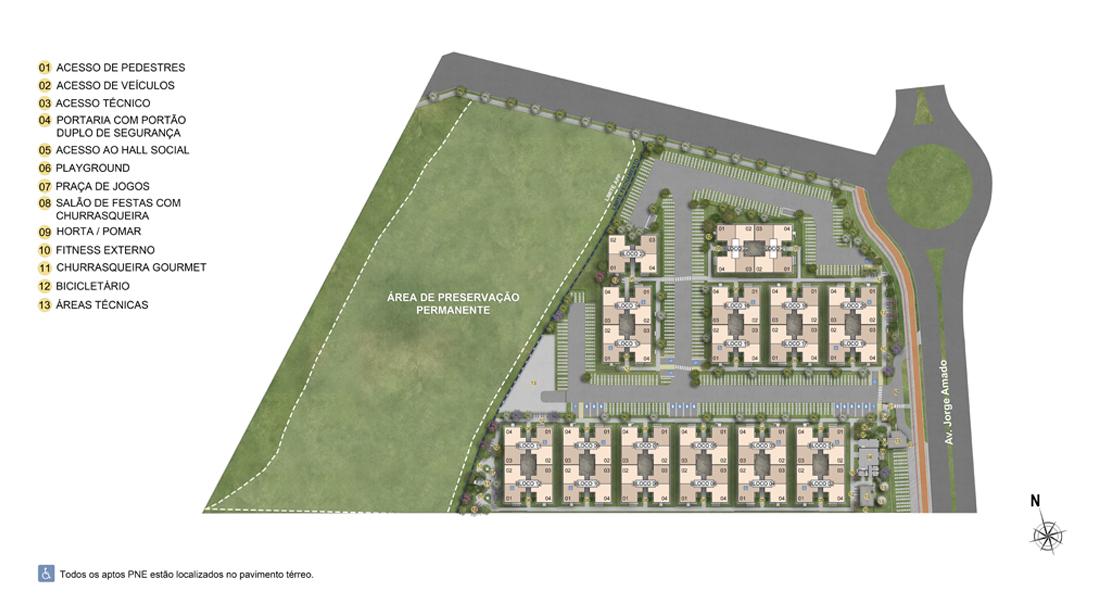 Planta de apartamento em Camaçari Park | Camaçari | BA | planta 1 | tenda.com
