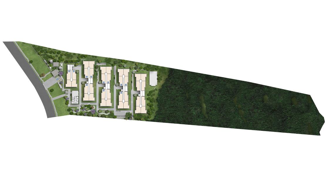 Planta baixa do Flor de Cerejeira Apartamento Minha Casa Minha Vida | Tenda.com