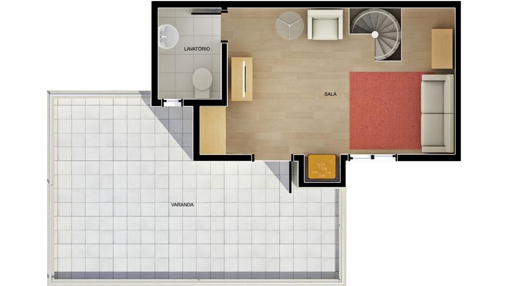 Planta baixa do Residencial Papa João XXIII Apartamento Minha Casa Minha Vida | Tenda.com