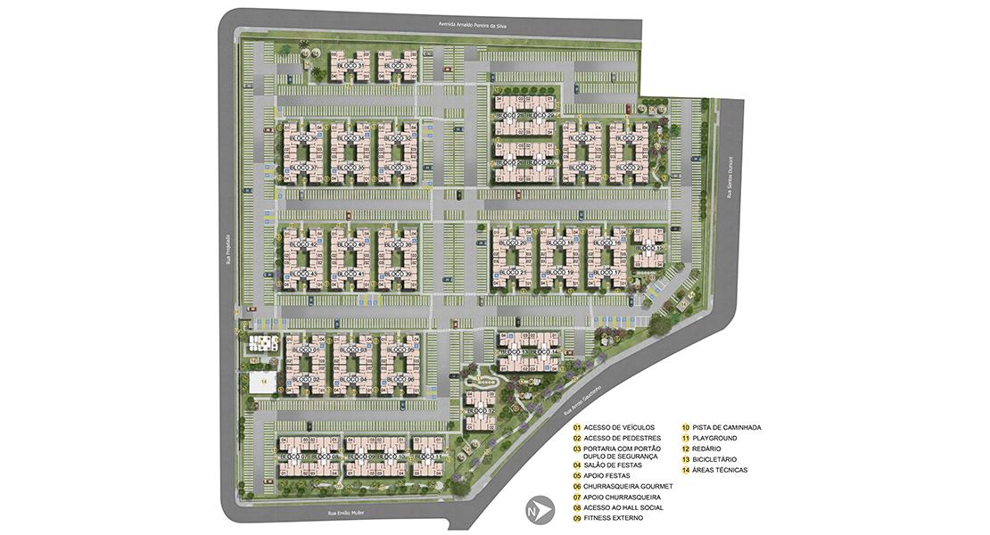Planta de apartamento em Villa Germânica | São Leopoldo | RS | planta 1 | tenda.com
