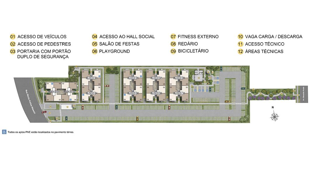 Planta baixa do Jardim Verde Ipanema Apartamento Minha Casa Minha Vida | Tenda.com
