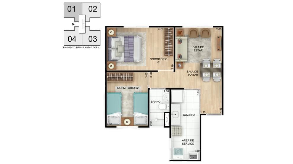 Planta baixa do Residencial Vista do Vale Apartamento Minha Casa Minha Vida   Tenda.com
