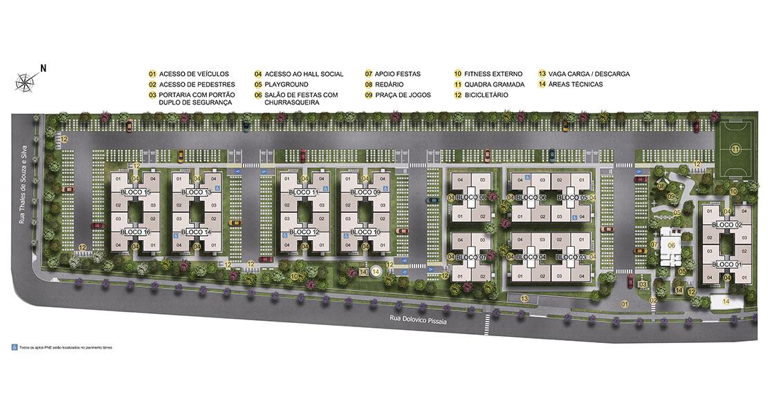 Planta baixa do Villagio Di Parma Apartamento Minha Casa Minha Vida | Tenda.com