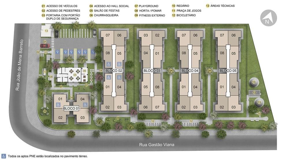 Planta baixa do Pátio América Apartamento Minha Casa Minha Vida | Tenda.com