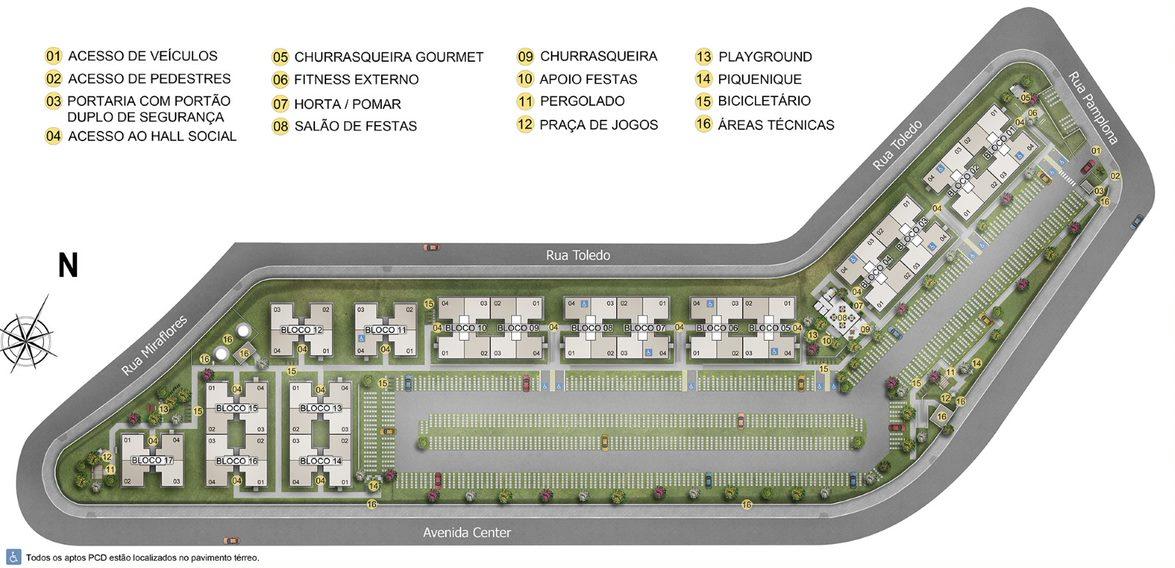 Planta de apartamento em Parque Cerrado I   Goiânia   GO   planta 1   tenda.com