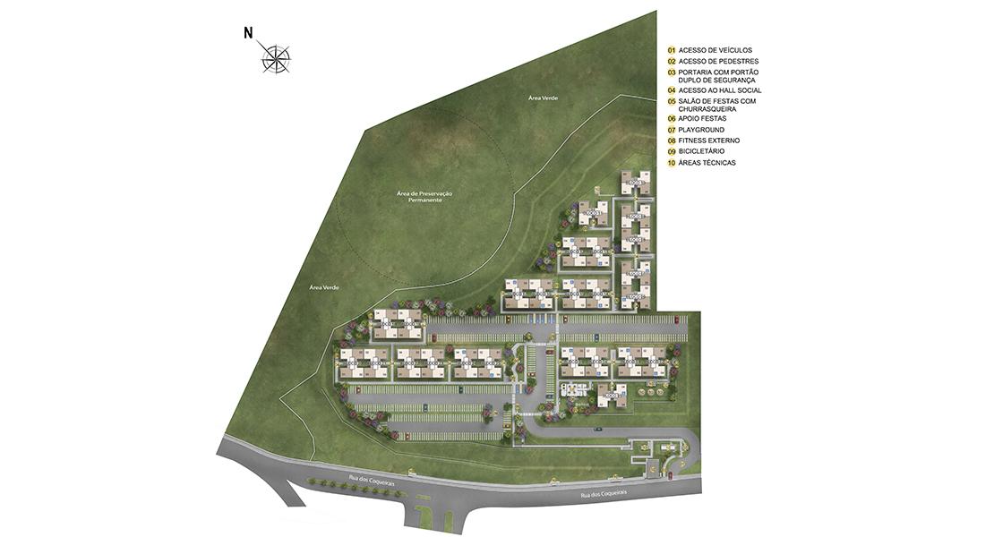 Planta de apartamento em Sidney | Cotia | SP | planta 1 | tenda.com