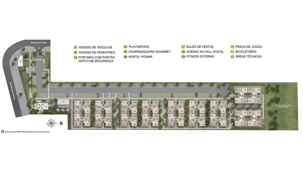 Planta de apartamento em Rosa dos Ventos | Rio de Janeiro | RJ | planta 1 | tenda.com