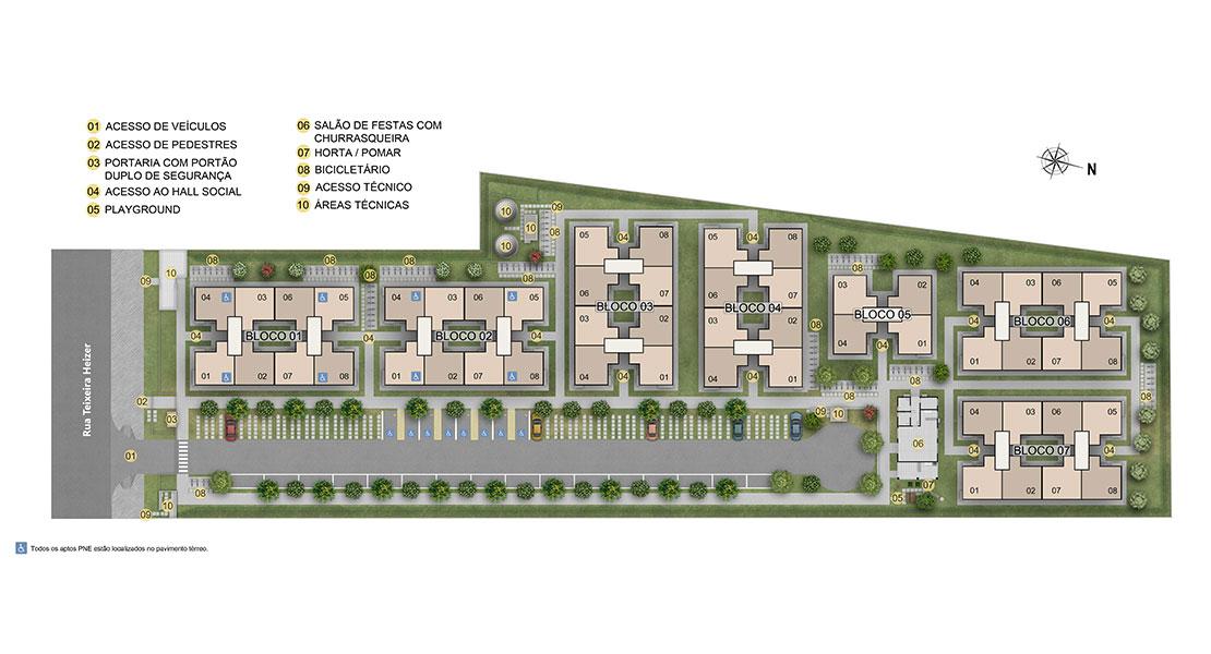 Planta de apartamento em Recanto do Pontal | Rio de Janeiro | RJ | planta 1 | tenda.com