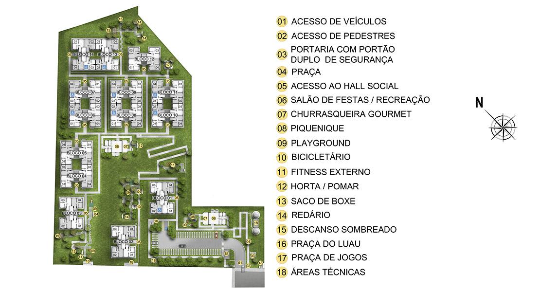 Planta baixa do Residencial Orquídeas Apartamento Minha Casa Minha Vida | Tenda.com