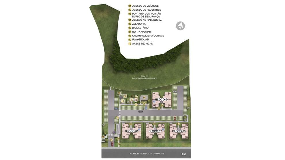 Planta de apartamento em Residencial Solar da Baronesa | Santa Luzia | MG | planta 1 | tenda.com