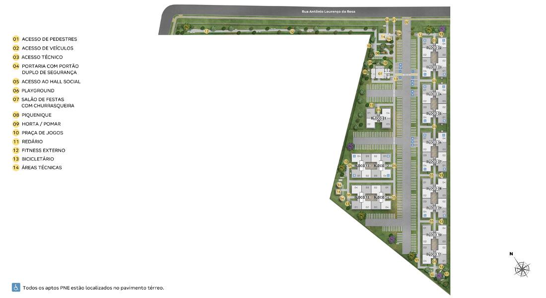 Planta de apartamento em Reserva dos Eucaliptos | Canoas | RS | planta 1 | tenda.com
