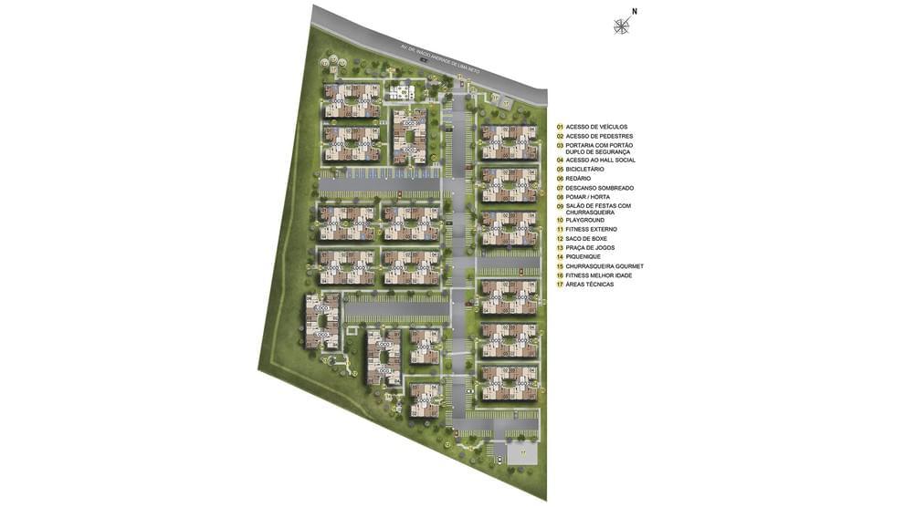 Planta de apartamento em Residencial Engenho Camaras Condominio Preservar | Camaragibe | PE | planta 1 | tenda.com