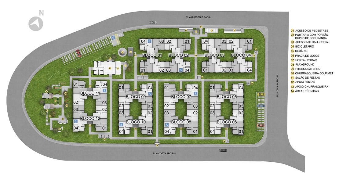 Planta de apartamento em Residencial Mirante Guaianazes | São Paulo | SP | planta 1 | tenda.com