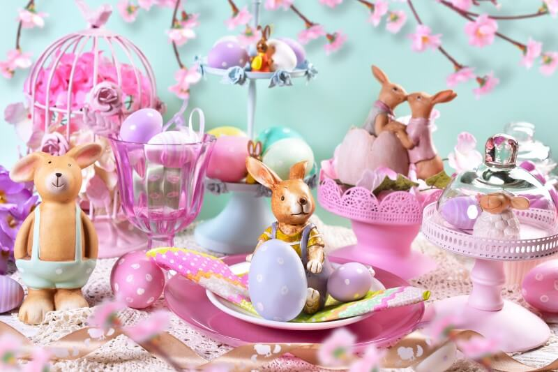 Mesa de Páscoa decorada | Blog da Tenda