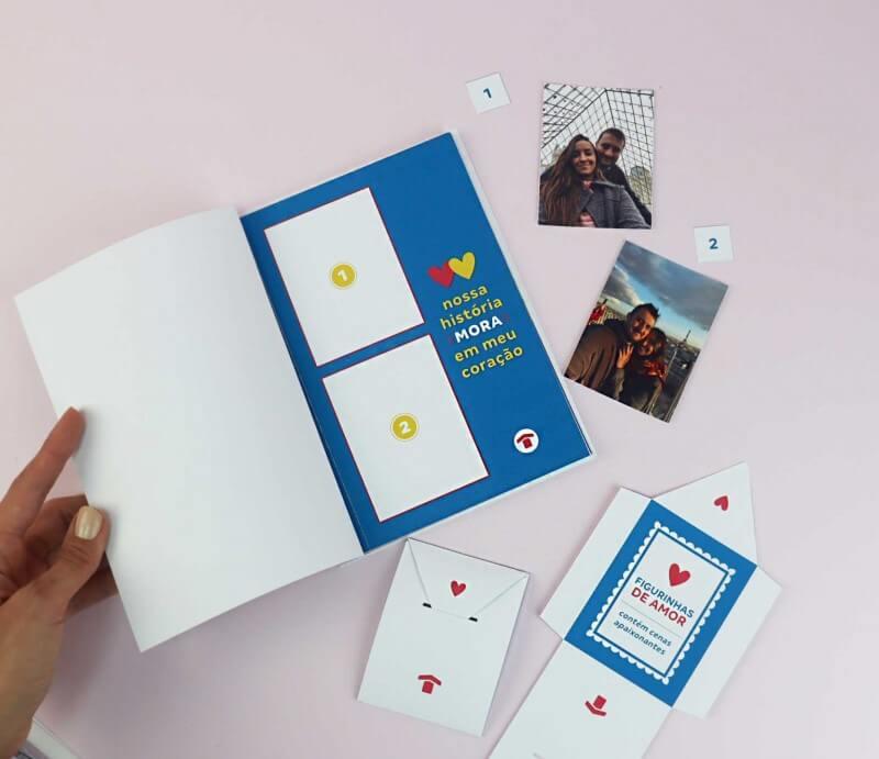 Álbum de figurinhas | Dia dos Namorados | Decoração | Blog da Tenda