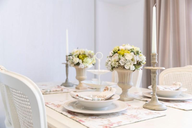 Sala de Jantar com Estilo Romântico   Blog da Tenda