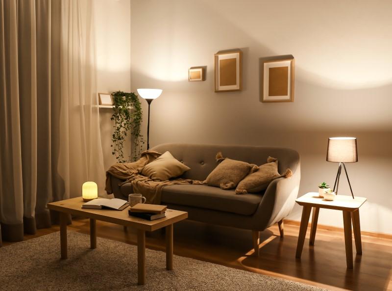 Sala de Estar com iluminação com baixa intensidade   Blog da Tenda